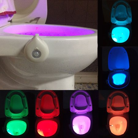 Toilet Night Light Motion Sensor Led   8 Color For Washroom Bathroom