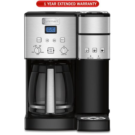 Cuisinart SS-15 12-Cup Coffee Maker and Single-Serve Brewer, Stainless , Refurbished with Extended