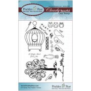 "Prickley Pear Clear Stamps 4""X6""-Birdcage"