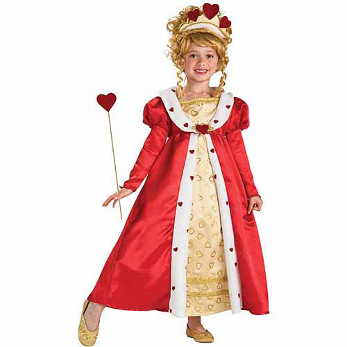 Red Heart Princess Child Halloween Costume