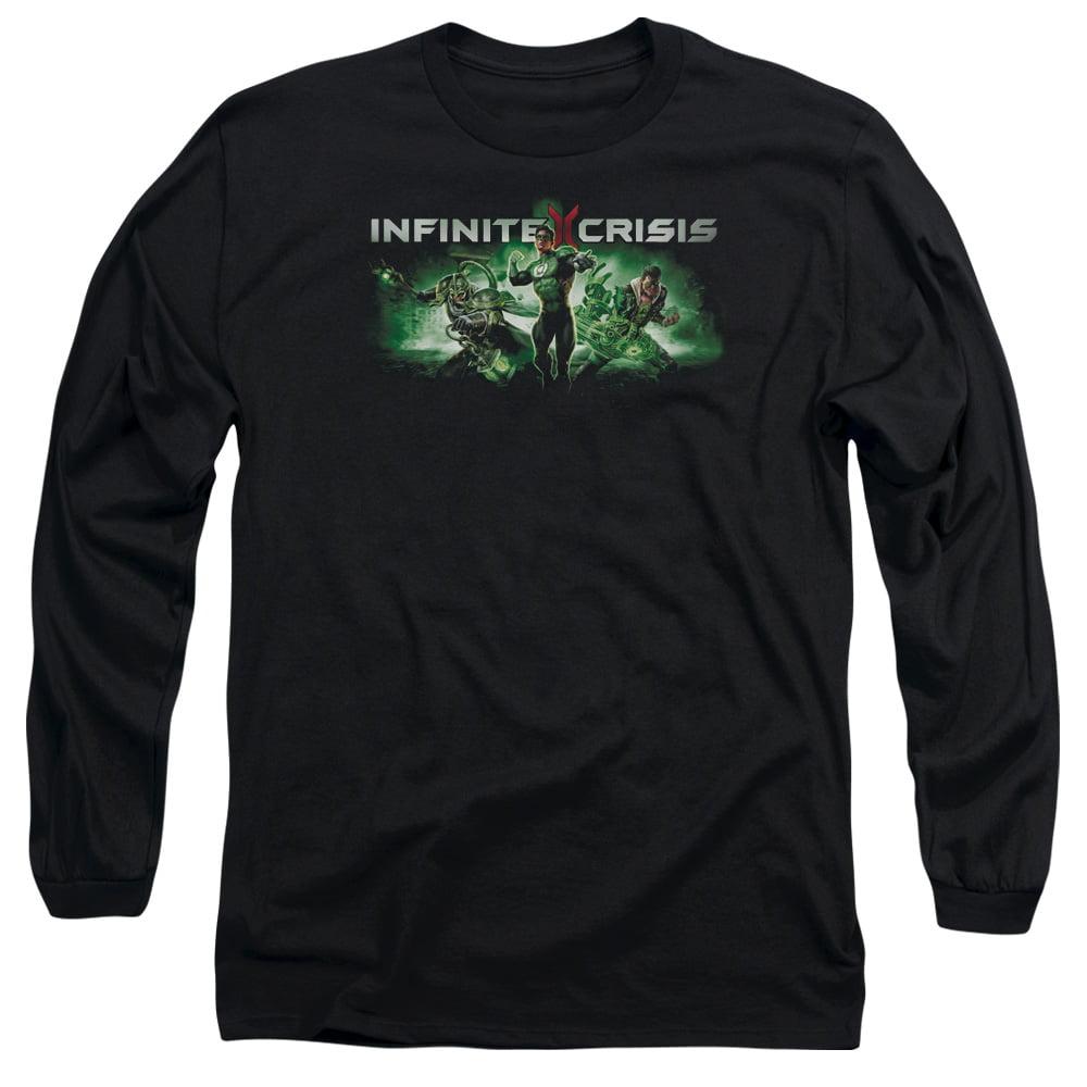 INFINITE CRISIS/IC GREEN-L/S ADULT 18/1-BLACK-2X