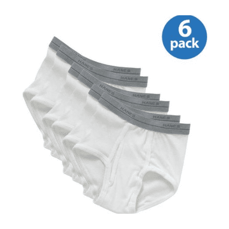 Hanes Boys Underwear, 6 Pack Tagless Boys Brief Sizes 4/5 - 16/18