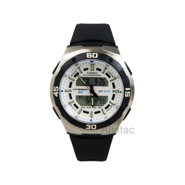 AQ-164W-7AV Men's Analog & Digital 100M Sports Watch w/ Black Resin Band