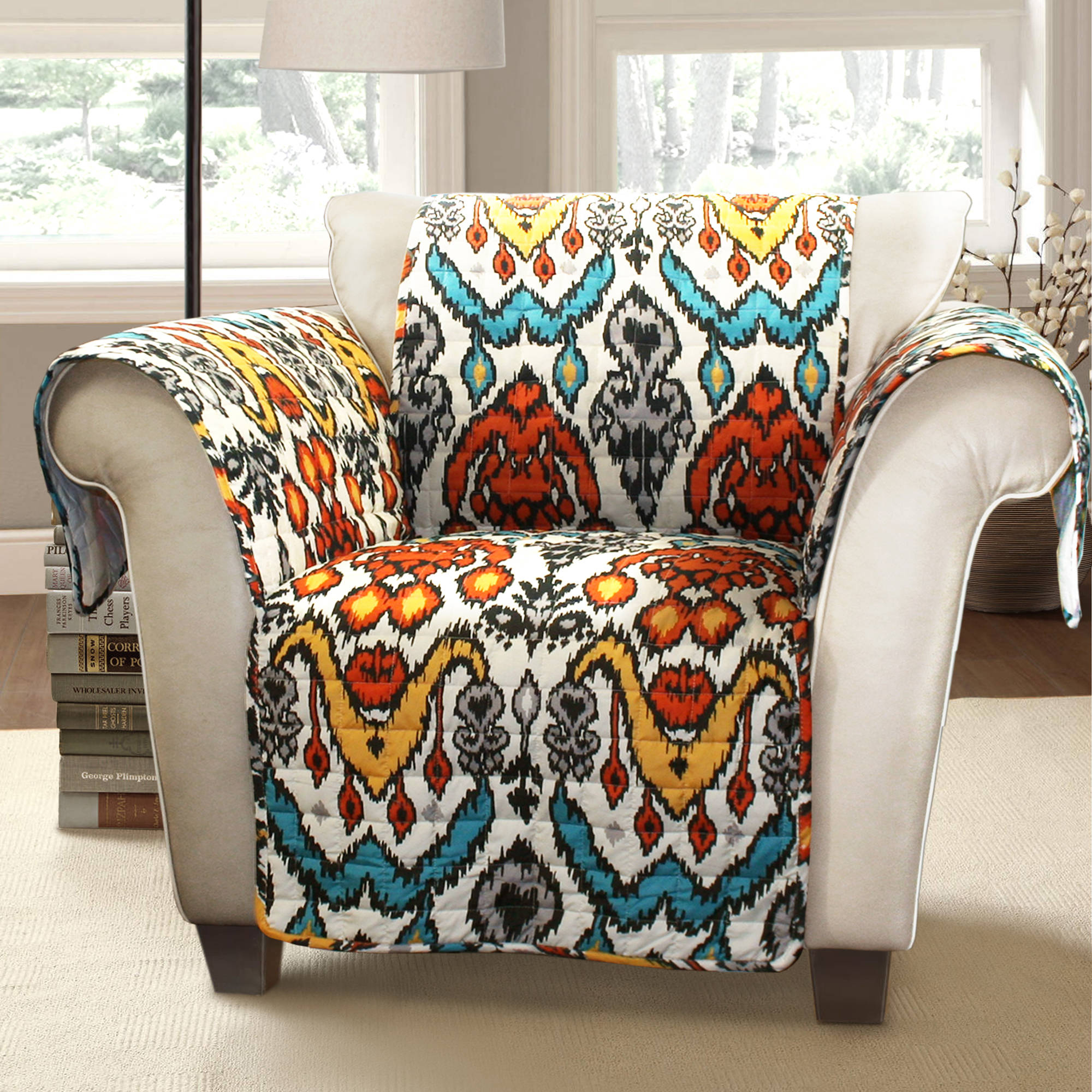Jaipur Ikat Furniture Protectors, Turquoise/rust Arm Chair   Walmart.com