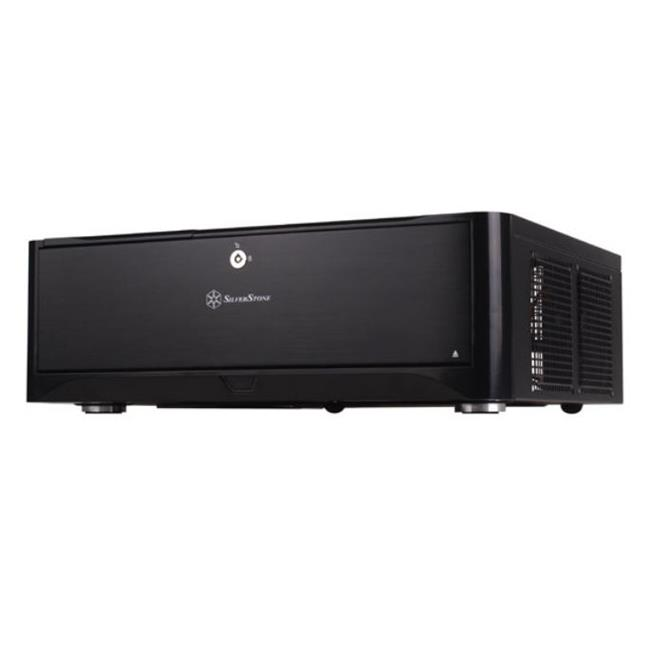 Silverstone Technology GD06B Classic HTPC-Desktop Case with Two Front USB 3. 0 Ports - Black