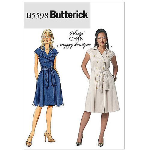 Butterick Pattern Misses' Dress and Belt, F5 (16, 18, 20, 22, 24)