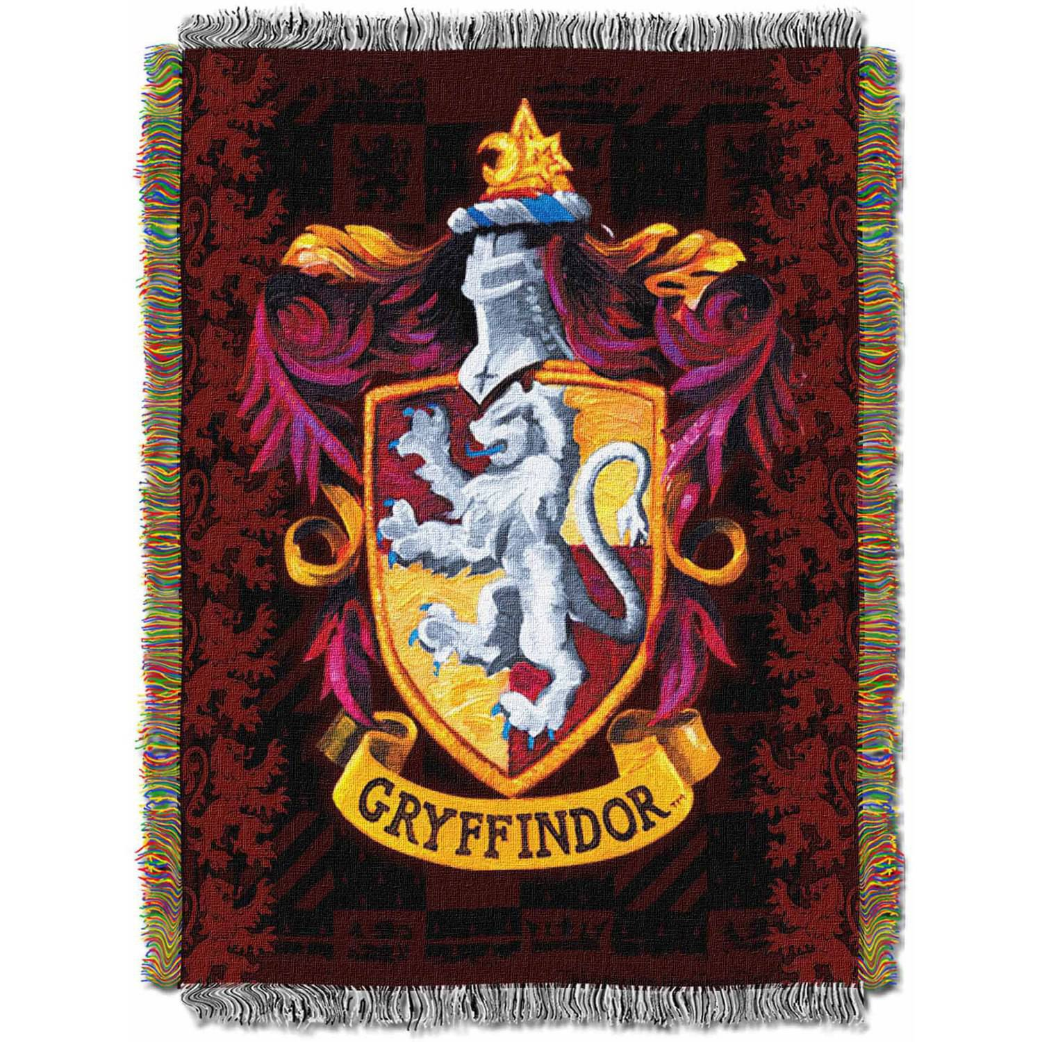 "Warner Bros. Harry Potter ""Gryffindor Crest"" 48"" x 60"" Woven Tapestry Throw"