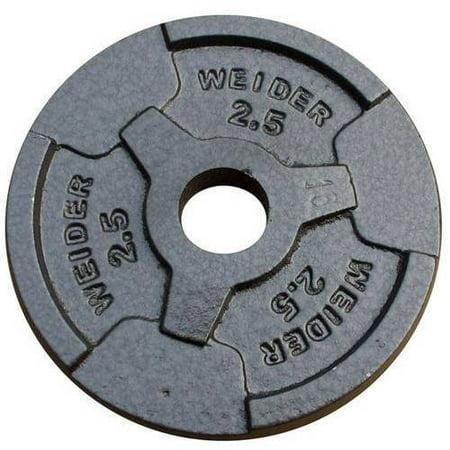 Weider Standard Hammertone Weight Plate  2 5 50Lbs