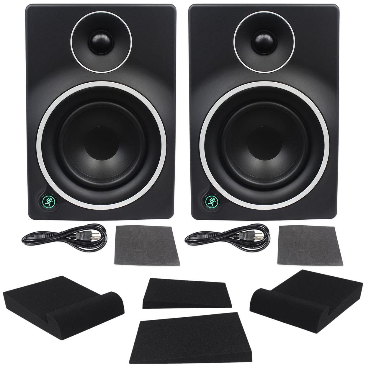 "(2) Mackie MR5mk3 5"" Active Powered Studio Monitors + Pair Foam Isolation Pads by Mackie"
