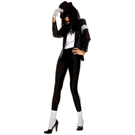The Gloved Pop Star Adult Costume - Small/Medium - Country Music Stars Halloween Costumes