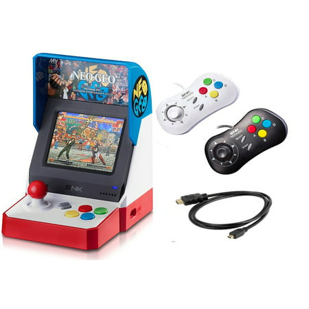 Neogeo Mini Pro Player Pack USA Version - Includes 2 Game Pads (1 Black & 1  White) and HDMI Cable
