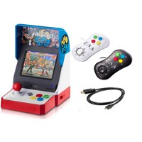 NEOGEO Mini Pro Player Pack Bundle - USA Version - Includes 2 Game Pads (1 Black & 1 White) and HDMI Cable