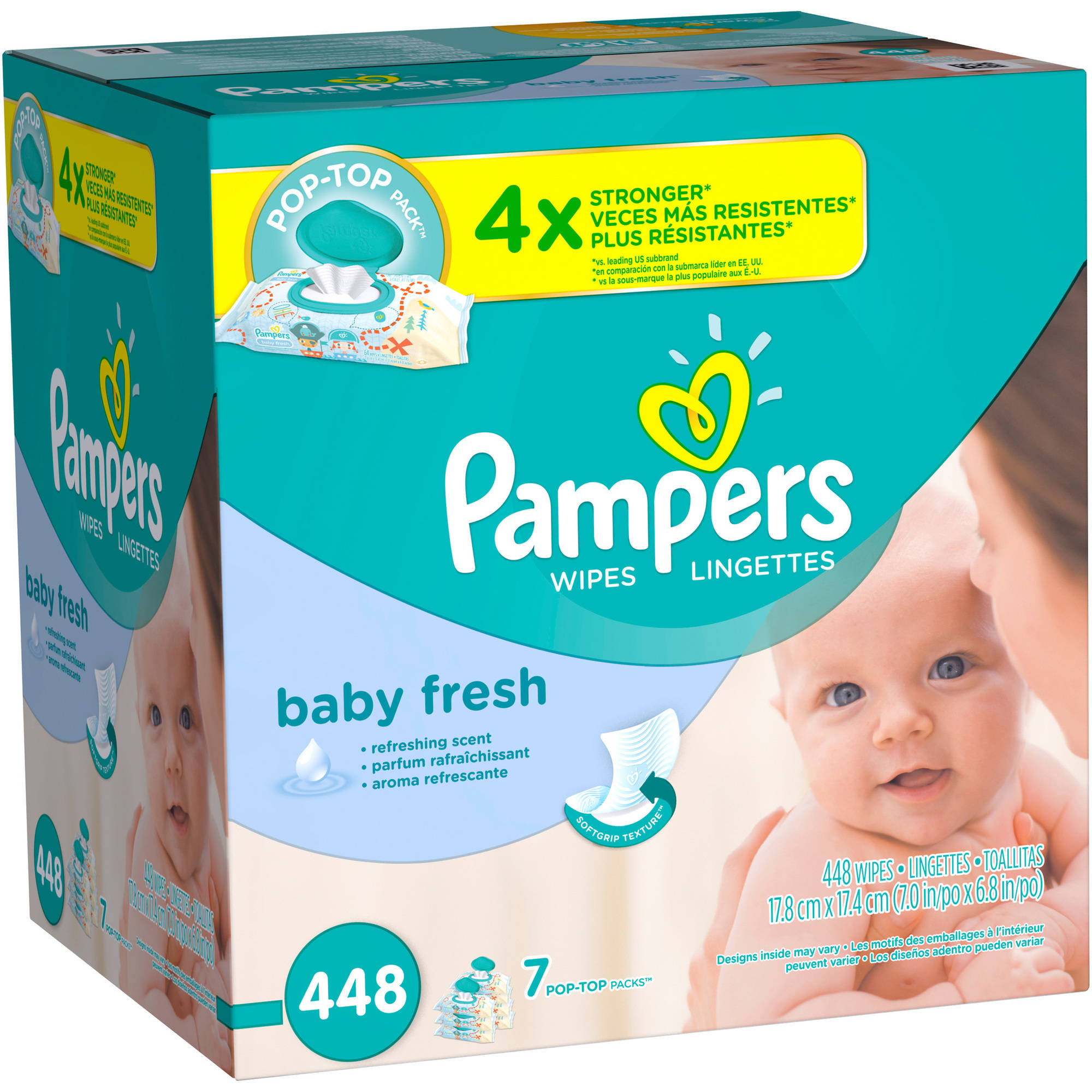 Pampers Baby Fresh Wipes, 448 Wipes