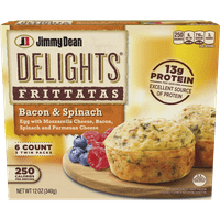Jimmy Dean Delights® Bacon and Spinach Frittatas, 6 Count (Frozen)