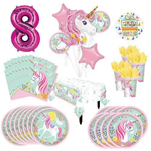5 pcs Unicorn Balloons Unicorn Set Unicorn Party Decorations Unicorn Design Baloons for Girls Birthday Birthday Decorations