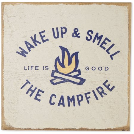 Life is Good. Large Wooden Sign: Keep It Reel Bone, Bone ()