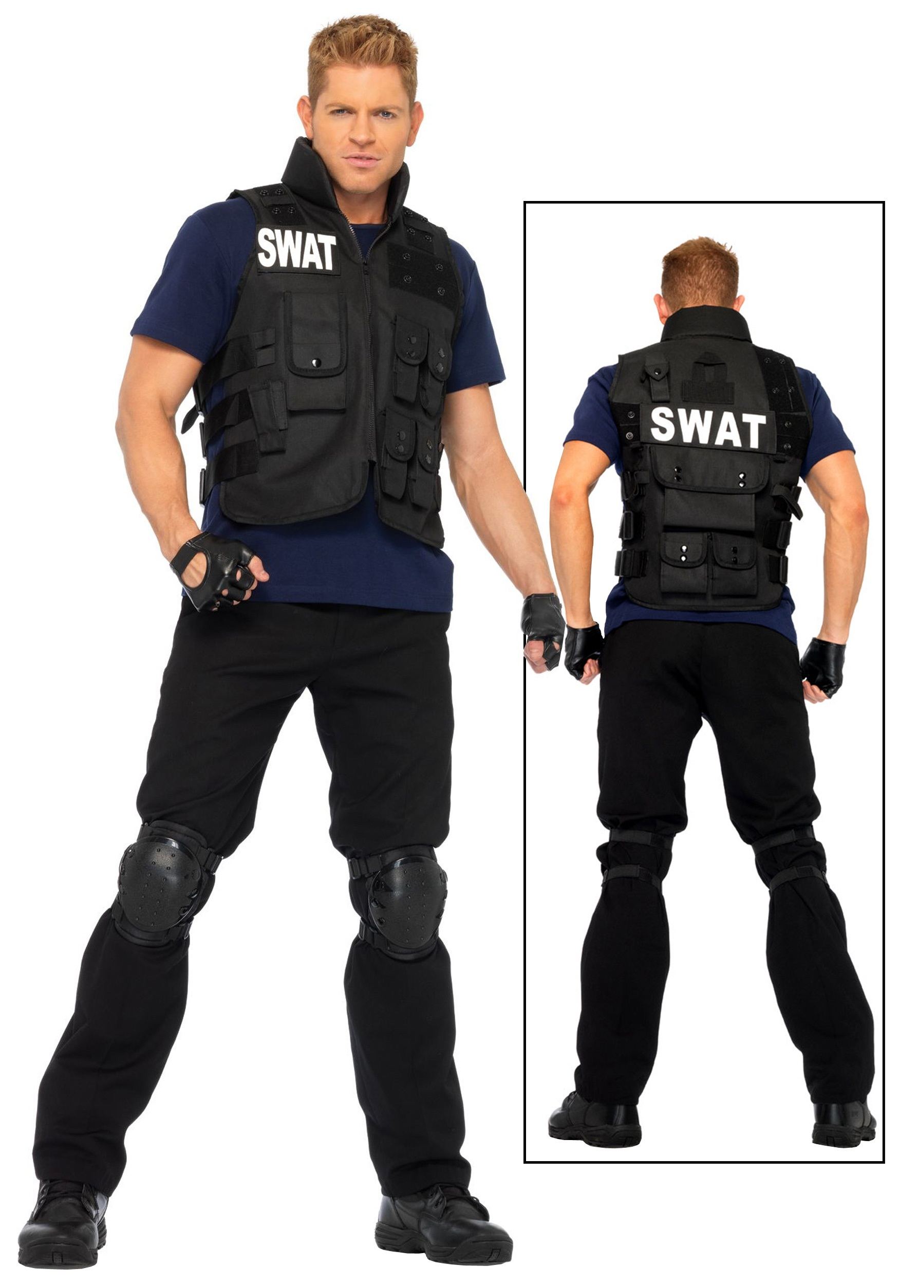 sc 1 st  Walmart & Mens SWAT Team Costume - Walmart.com