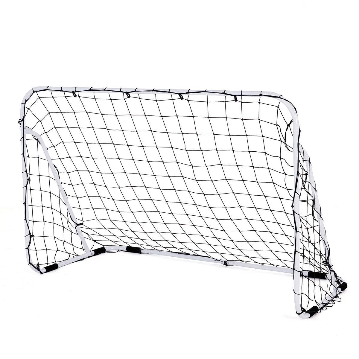 Costway 6' x 4' Steel Football Soccer Goal Net Gate ...