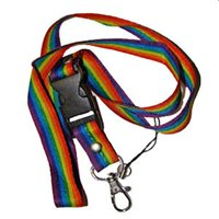 Rainbow Gay Pride Lanyard Tag Holder Key Holder