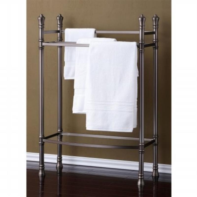 Best Living Monaco Towel Stand, Brushed Titanium