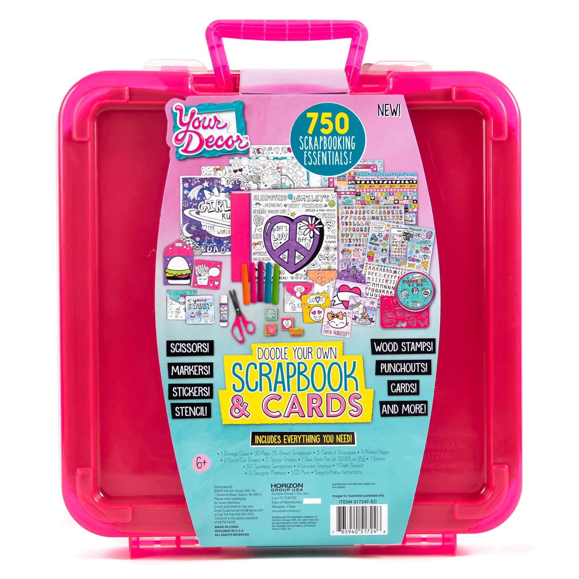 Scrapbook paper carrying case - Your Decor Scrapbook Amp Cards Kit By Horizon Group Usa Walmart Com