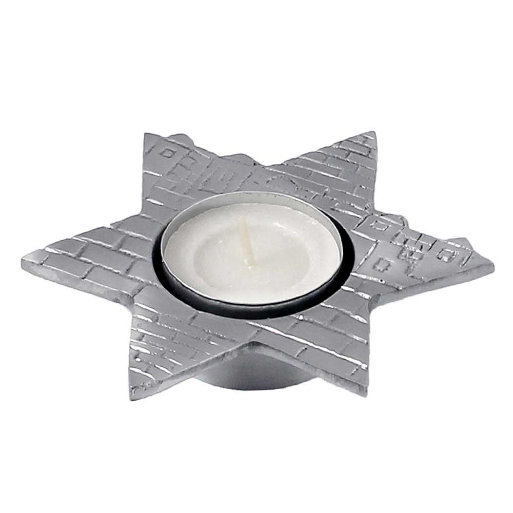 Star Of David Aluminum Tea Light Candle Holder