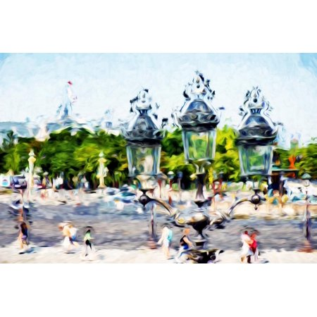 Place de la Concorde - In the Style of Oil Painting Print Wall Art By Philippe Hugonnard