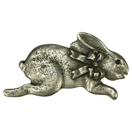 Bunny w/bow-r pull (Antique Bronze)