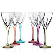 Lorren Home Trends Logic Crystal Cordial Glass (Set of 6)