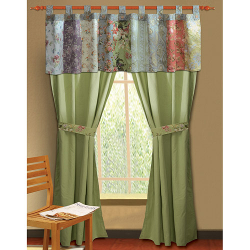 Global Trends Carmel Patchwork Window Valance