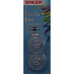 Singer Touch And Sew Transparent Bobbins 2 Pack S2138