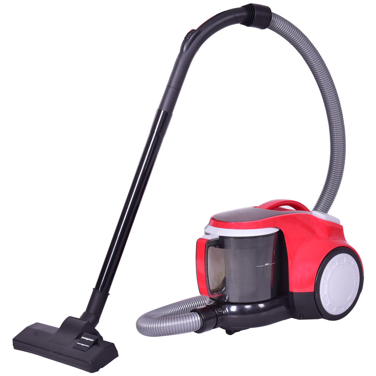 Costway Vacuum Cleaner Canister Bagless Cord Rewind Carpet Hard Floor w Washable Filter