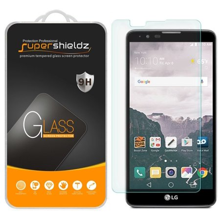 - [1-Pack] Supershieldz for LG Stylo 2 Tempered Glass Screen Protector, Anti-Scratch, Anti-Fingerprint, Bubble Free
