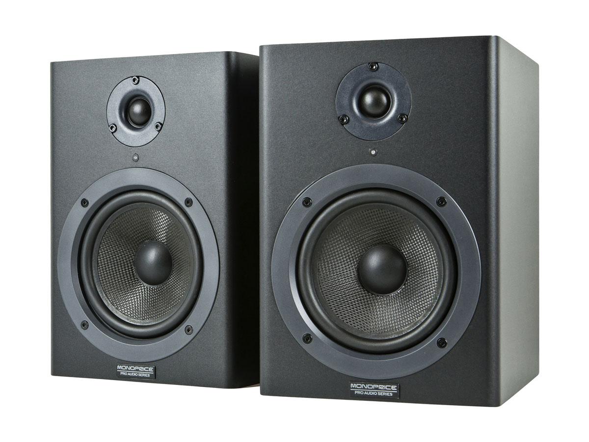 MONOPRICE 5-inch Powered Studio Monitor Speakers (pair) by Generic