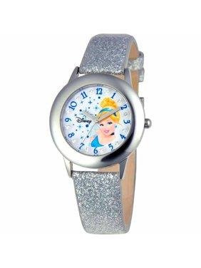 Cinderella Girls' Stainless Steel Watch, Silver Strap