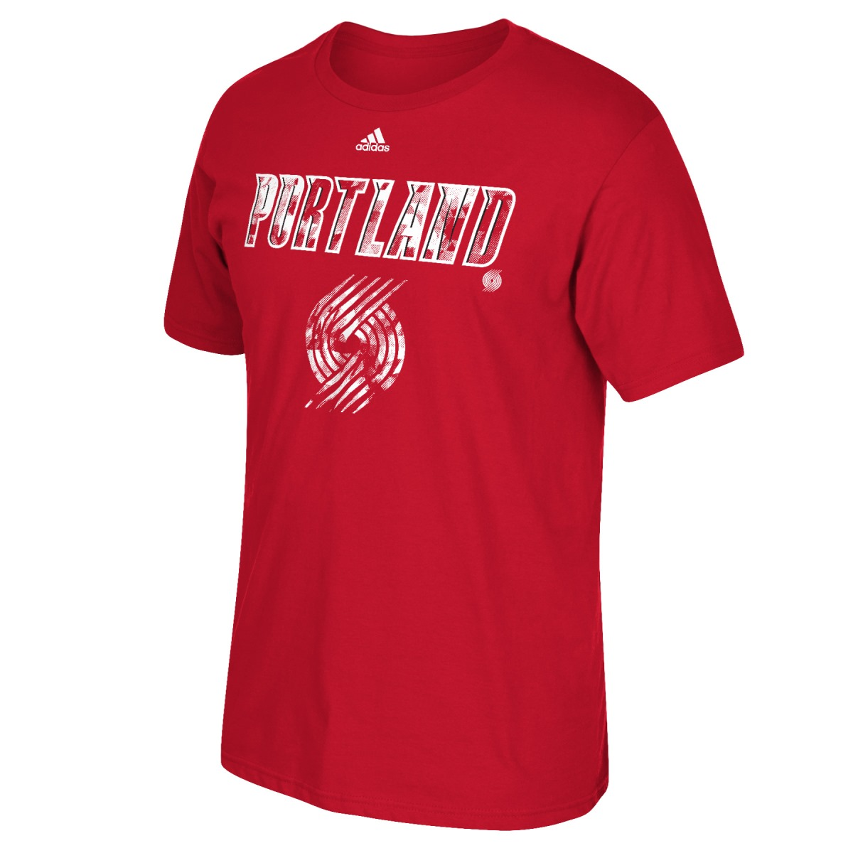 "Portland Trail Blazers Adidas NBA ""Energy Wordmark"" Men's Short Sleeve T-Shirt"