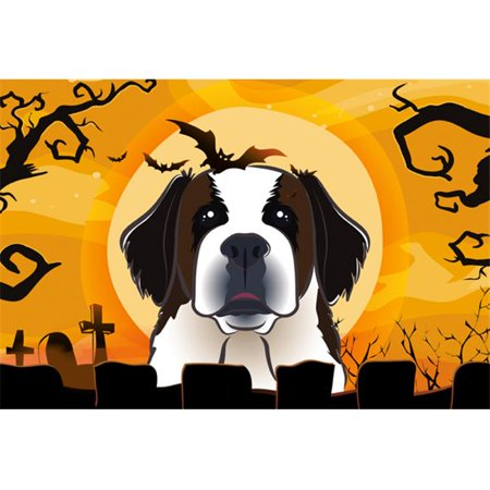 Halloween Saint Bernard Fabric Placemat](Diy Halloween Placemats)