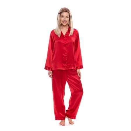 Women's 100% Silk Pajama Set - Luxury Sleepwear Pjs by TexereSilk (Morning Dew)](Dinosaur Pjs For Adults)
