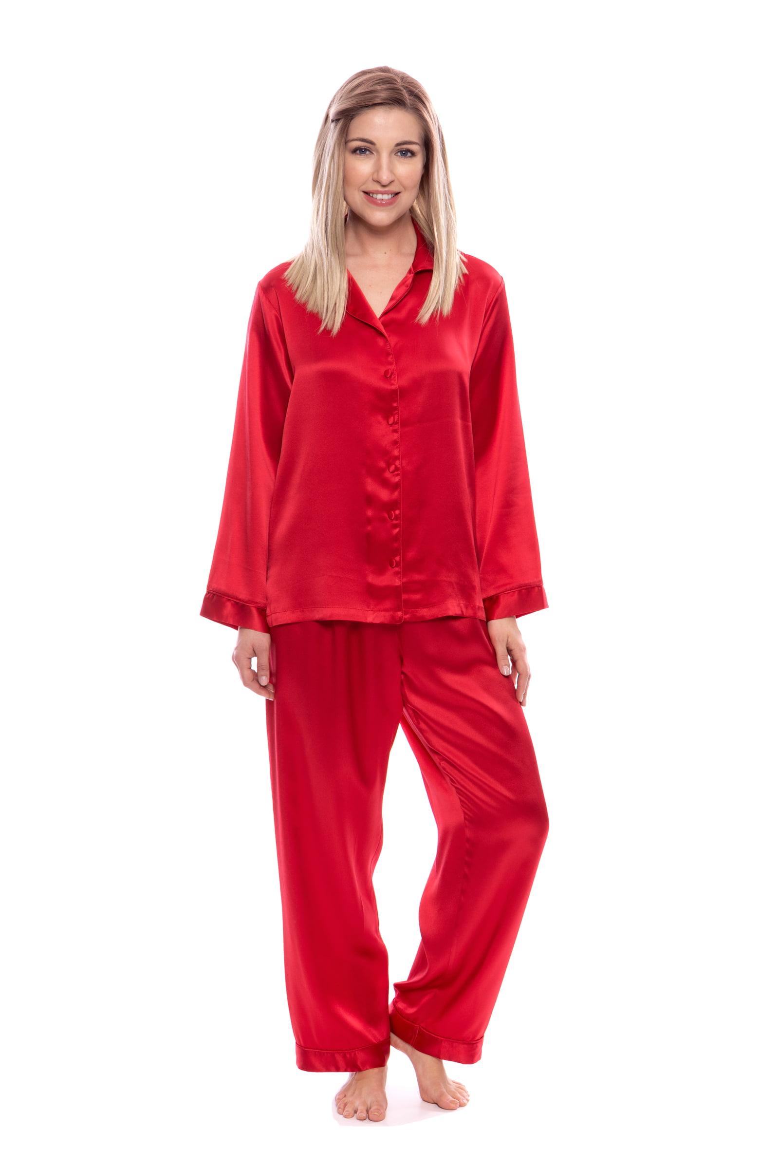 Women's 100% Silk Pajama Set - Luxury Sleepwear Pjs by TexereSilk (Morning Dew)