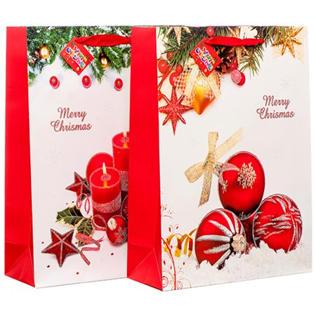 Ornaments In Bulk (New 378925  Hx Gift Bag Ornament W / Glitter Md Asst Design (12-Pack) Christmas Cheap Wholesale Discount Bulk Seasonal Christmas Party)