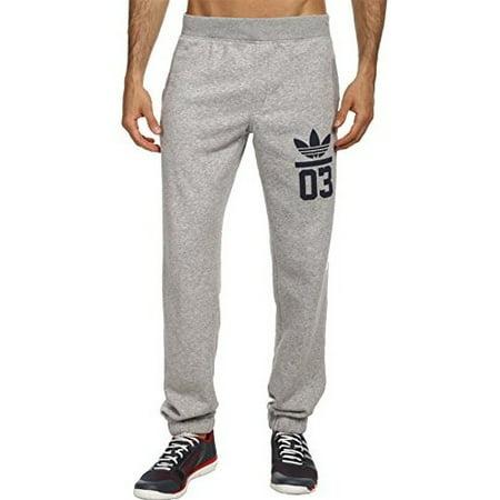 c6144841b8c adidas Originals Men's 3Foil Track Pant Medium Grey Heather/Collegiate Navy  Pants XL X 34 - Walmart.com