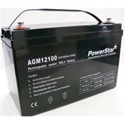PowerStar AGM12100-06 12V 100Ah Group 27 SLA Rechargeable Battery Insert Terminals