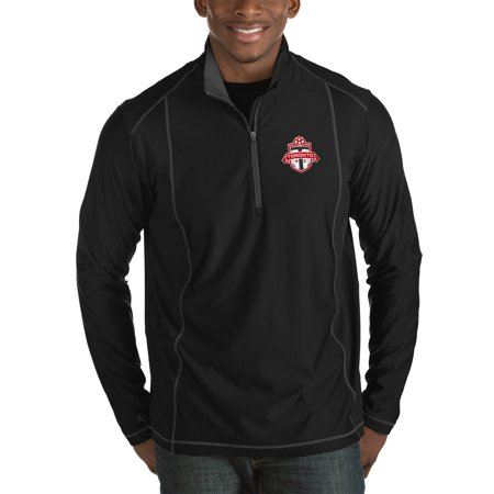 Toronto FC Antigua Tempo Big & Tall Half-Zip Pullover Jacket - Black ()
