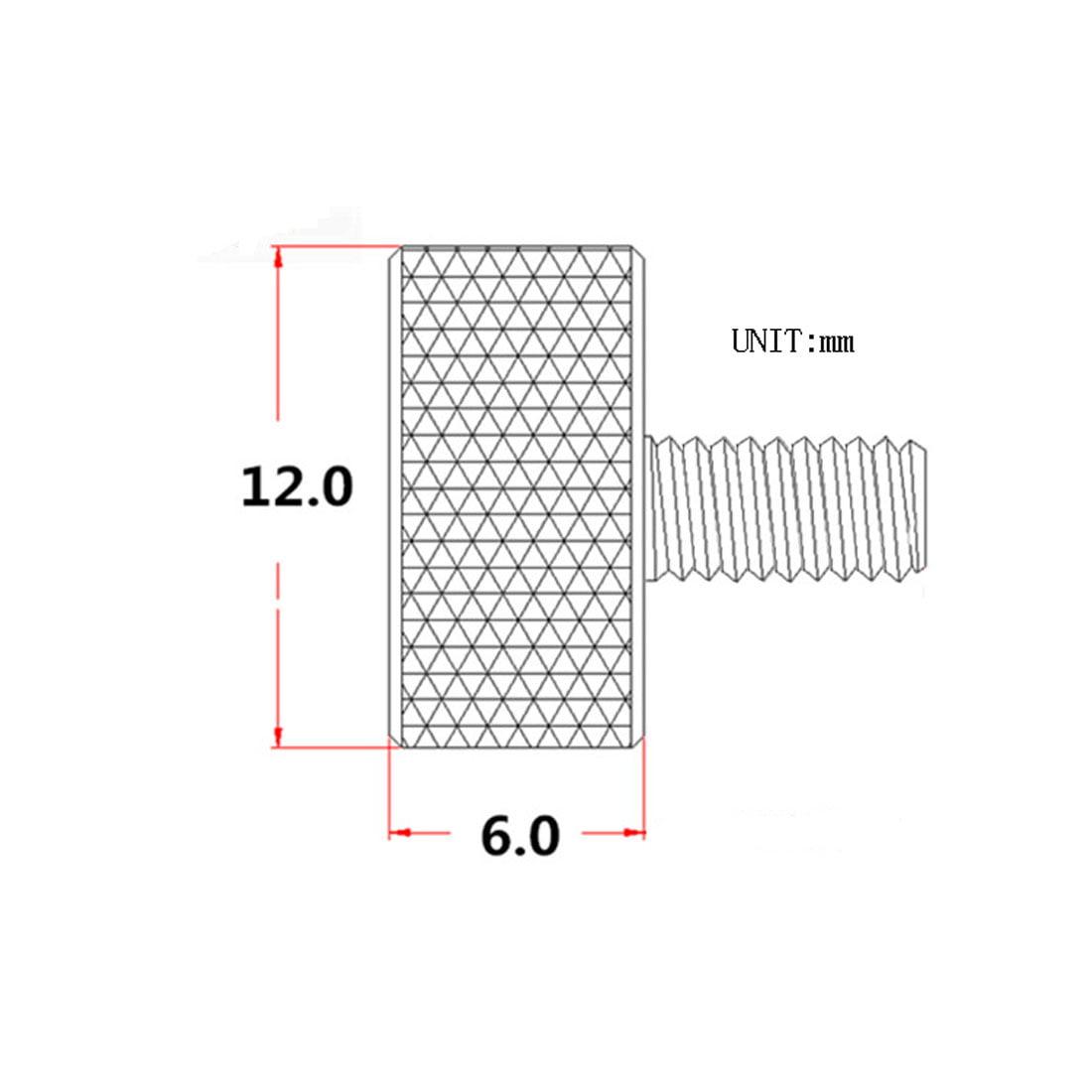 DealMux Computer Graphics Card M3.5x16mm Flat Head Knurled Thumb Screws Wine Red 10pcs