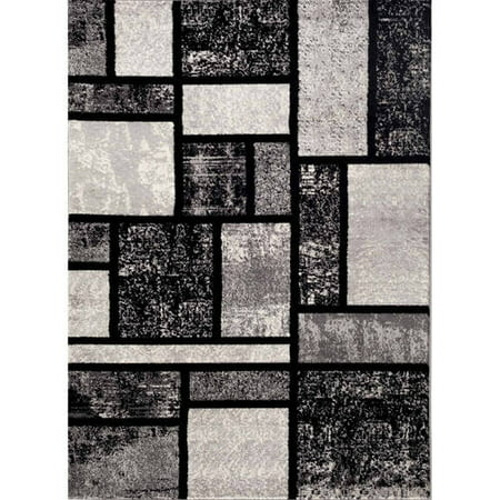 - World Rug Gallery Contemporary Modern Boxes Area Rug or Runner