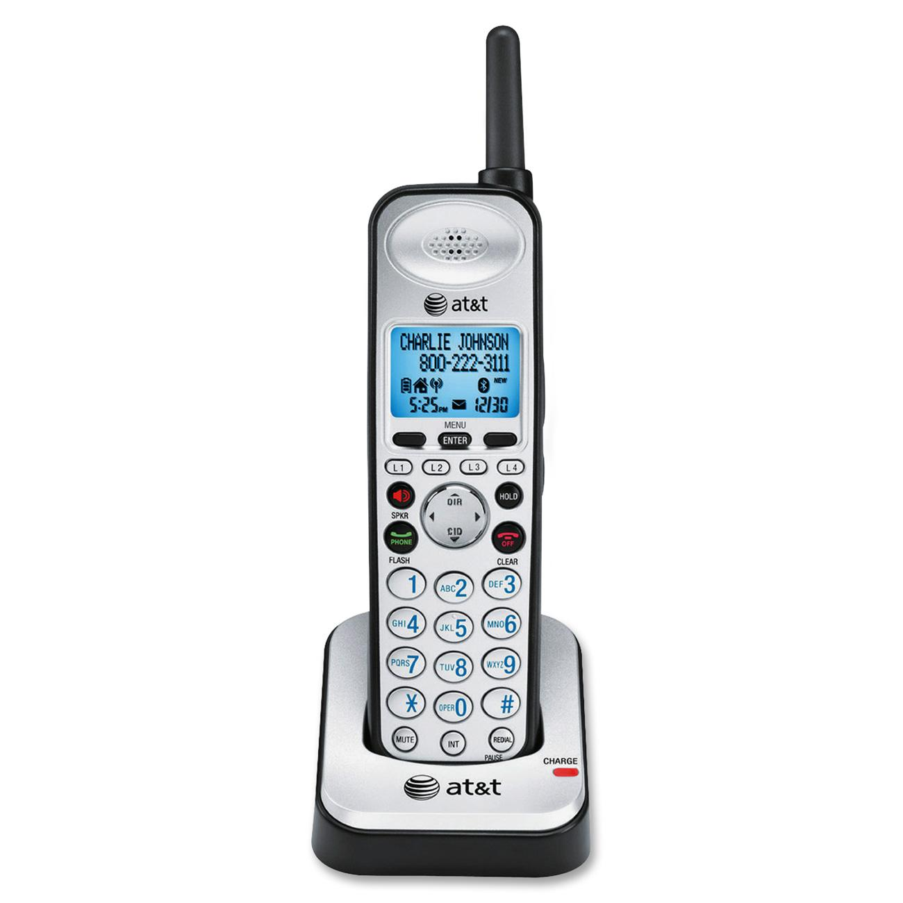 AT&T 4-line Accessory Handset, Black, Silver