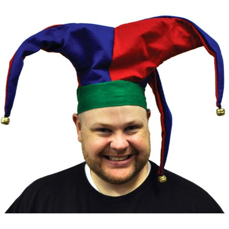Velvet Jester Hat Adult Halloween Accessory (Kids Jester Hat)