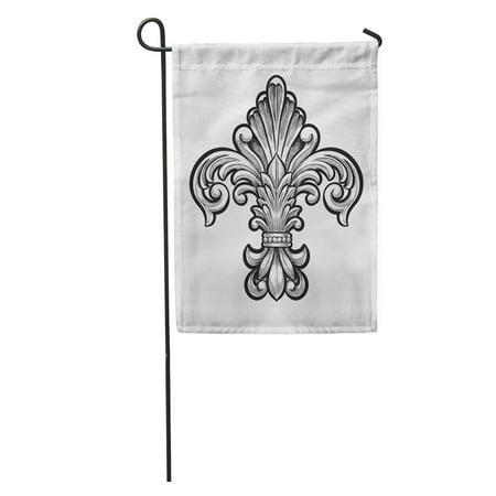 KDAGR Cross Elegant Fleur De Lis Vintage French Gothic LYS Medieval Garden Flag Decorative Flag House Banner 28x40 inch](Banner Medieval)