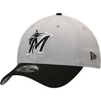 purchase cheap 8d5d0 7c6d8 Product Image Miami Marlins New Era Team Classic 39THIRTY Flex Hat -  Gray Black