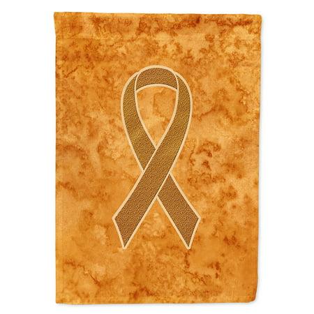 Orange Ribbon for Leukemia Awareness Flag Canvas House Size